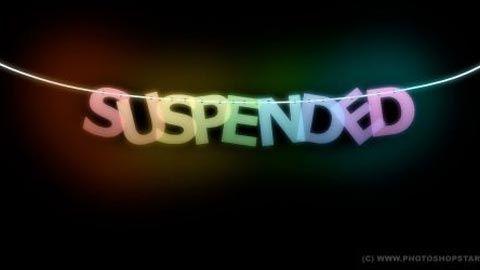 suspened