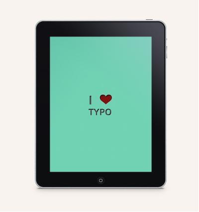 i love typo iPad version
