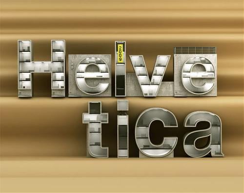helvetica architectural type design 1