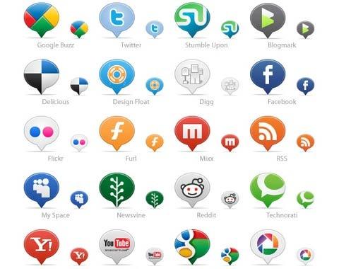 ballon-social-media-icons