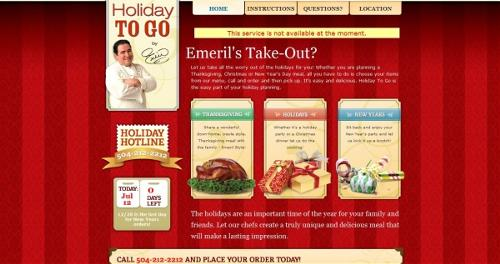 Emeril's Holiday to Go