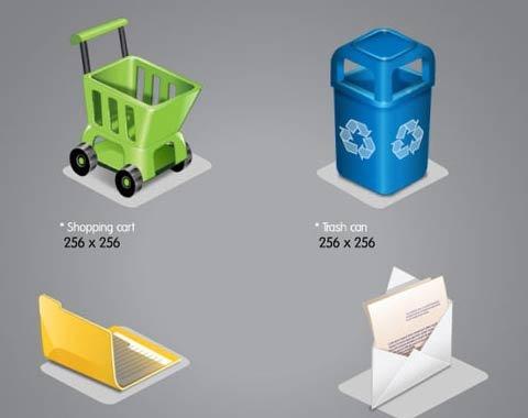 five-plastic-icons
