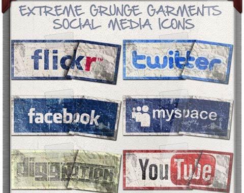 grunge-icon-set