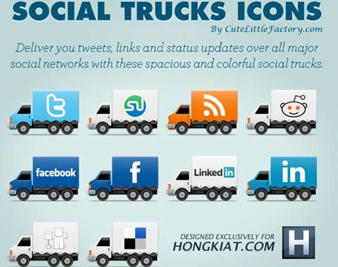 social-truck-icons