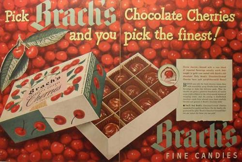 Brach's Chocolate Cherries - 1940s