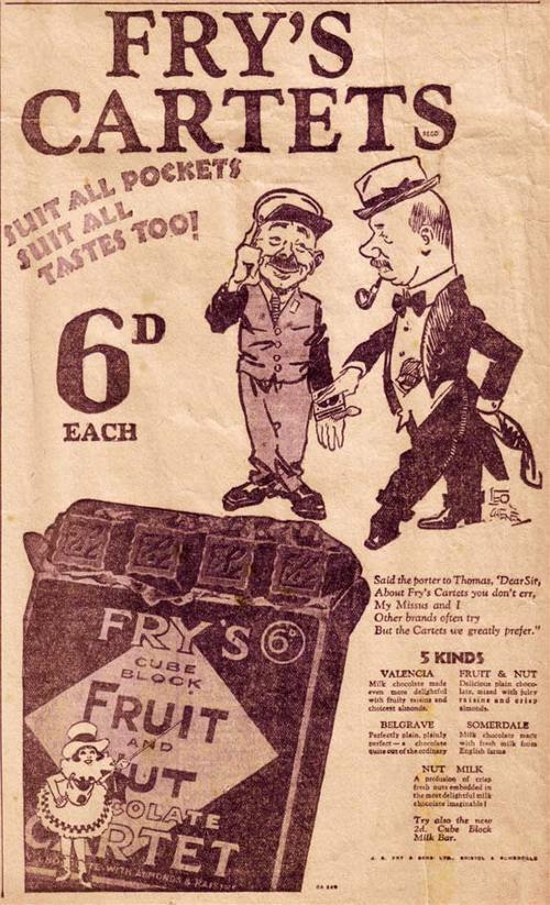 Fry's Cartetes - 1928