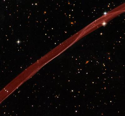 A Supernova Ribbon from Hubble