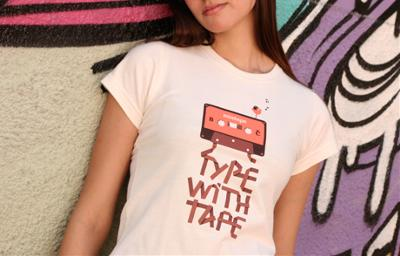 Type with tape