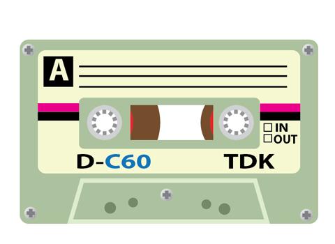懐かしいtdkカセットテープイラストのチュートリアル Bagel Cafe