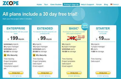 instantShift - Inspirational Pricing Page Designs