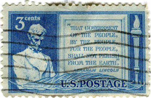 1948 USA - 85th anniversary of Abraham Lincoln's Gettysburg Address