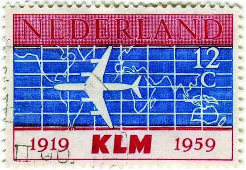 1959 Netherlands - KLM Airline's 40th Anniversary 1919-1959