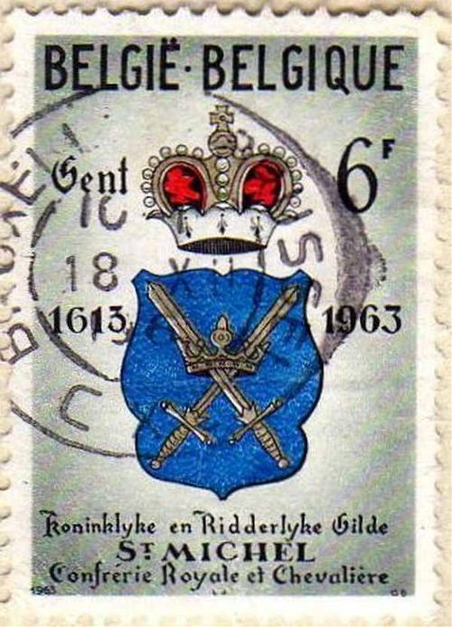 1963 Old Belgium Stamp
