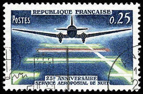 1964 France - 25e Anniversaire Service Aeropostal de Nuit