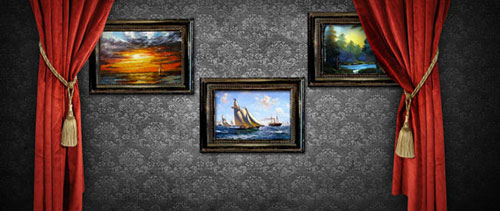 Art gallery free psd file