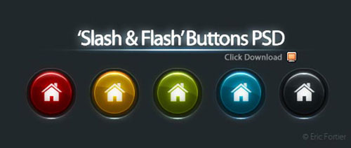 Home web buttons free psd file