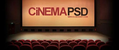 Cinema free psd file