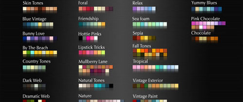 Complementary Colour Swatches free psd file