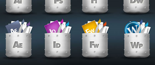 Designers icons free psd file