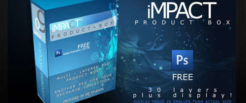 Product box free psd file
