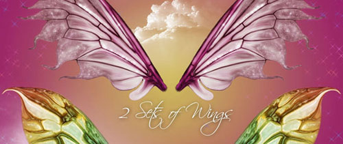 Fairy wings free psd file