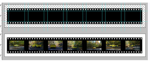 Film strip free psd file