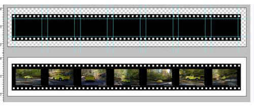 Film strip free psd file