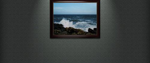 Framed Wallpaper free psd file