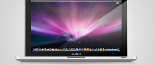 Macbook free psd file