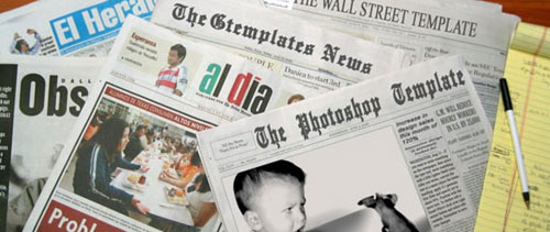 Newspaper template free psd file