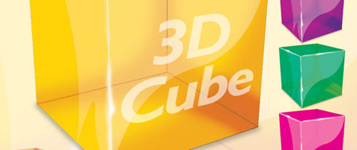 Photoshop 3D Cube free psd file