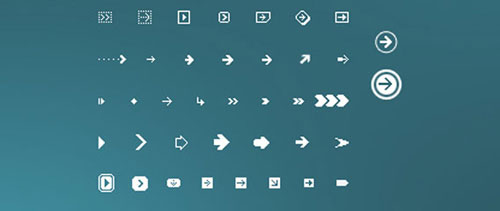 Pixel Arrows Pack 01 free psd file