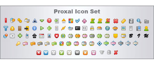 Proxal icon set free psd file