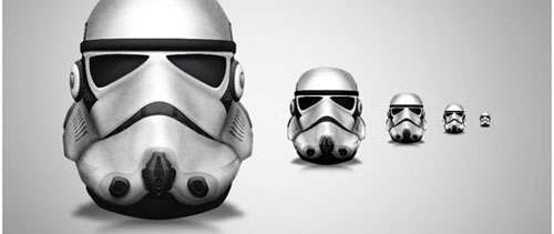 Stormtrooper icon free psd file