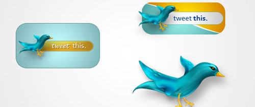 Twitter icons free psd file