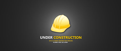 Under construction free psd file