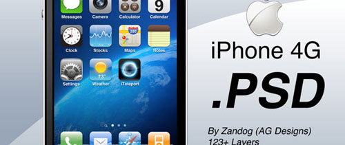 Apple iPhone 4G free psd file