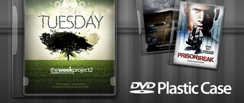 DVD Plastic Case free psd file