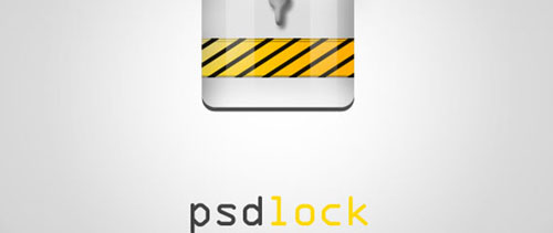 Lock icon free psd file