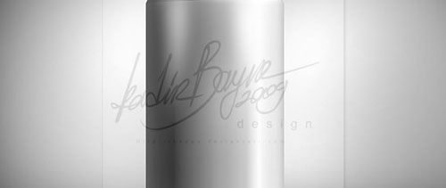 Metallic soda can free psd file