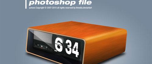 Retro clock free psd file