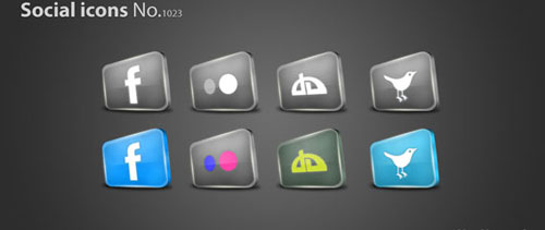Social icons free psd file