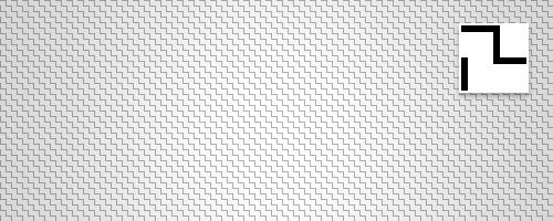 Diagonal zig zag pattern