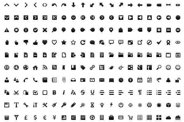 Gentleface Toolbar Icon Set