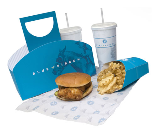 Blue Ribbon package design