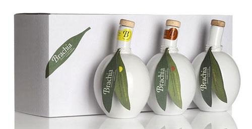 Brachia Olive Oil package design