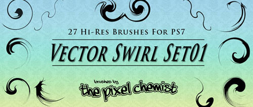Brushes – Vector Swirl Set01 for Photoshop