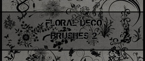 Floral Deco 2 Photoshop Brushes