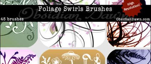 Foliage Swirls for Photoshop