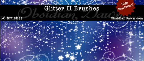 Glitter II Brushes for Photoshop